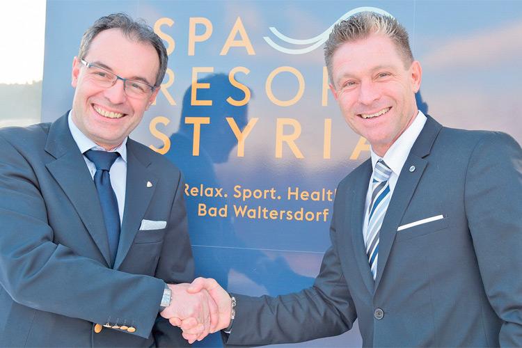 """""""Vamed Vitality World"""" COO Thomas Bauer (li.) mit dem neuen General-Manager Günther Zimmel."""