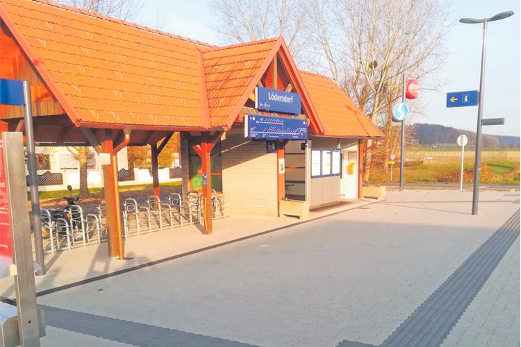 Die ÖBB-Haltestelle in Lödersdorf ist nun komplett barrierefrei.