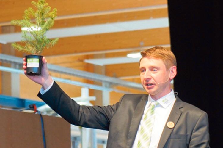 GF Michael Oberfeichtner bei seiner Eröffnungsrede.