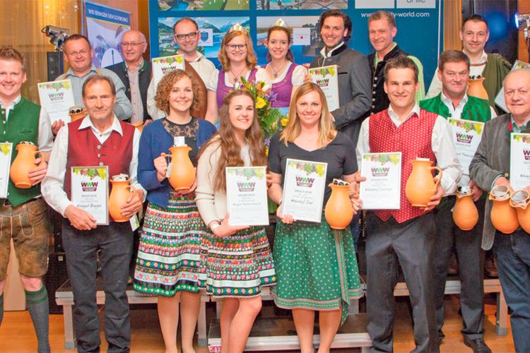 Stolze Gewinner: Eine Expertenjury kürte im Spa Resort Styria die 13 Sortensieger.
