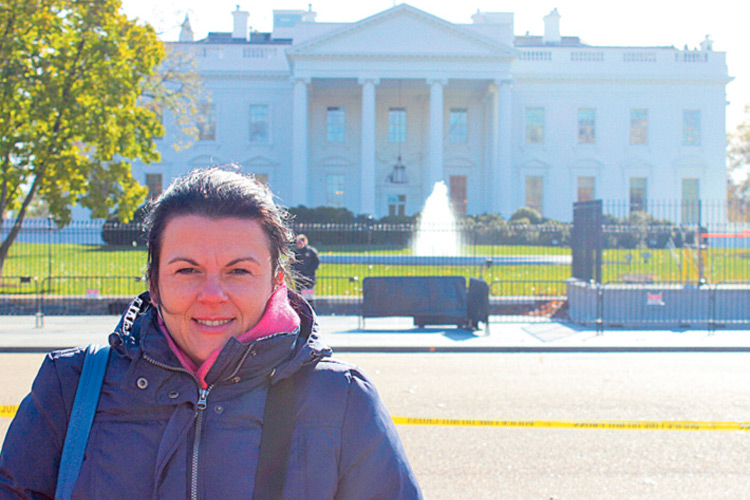 """Beeindruckt zeigte sich Sonja Skalnik vom """"Weißen Haus"""" in Washington."""