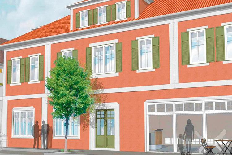 """Für das """"Betreute Wohnen"""" – Projekt wird das ehemalige Kaufhaus Tölg umgebaut."""